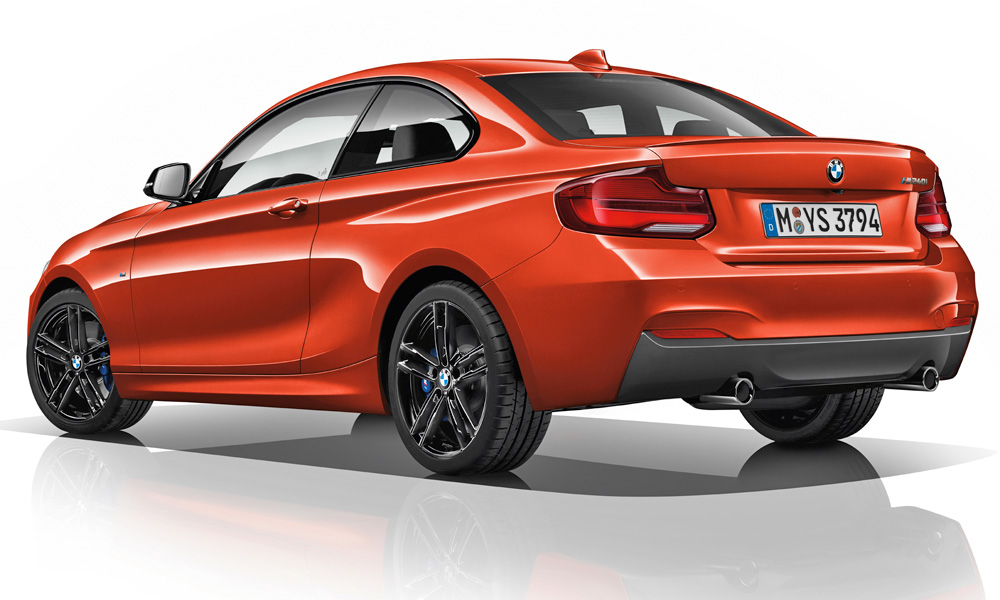 The BMW M240i gains new (optional) 18-inch alloys.