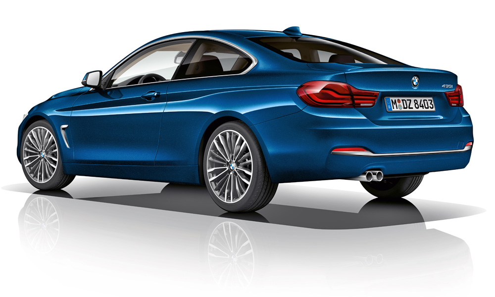 New paint colours are offered for the 4 Series.