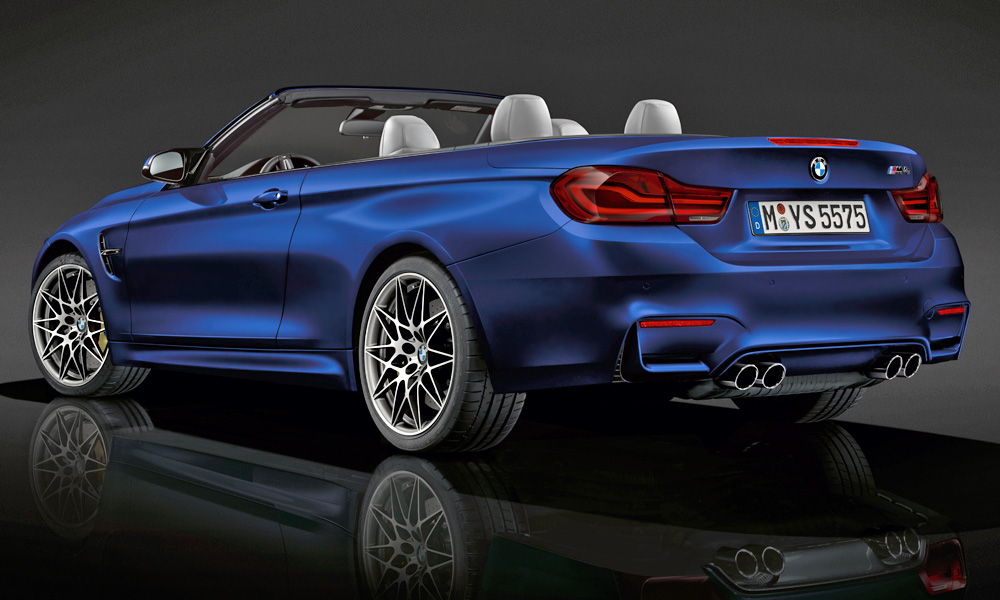 Note the M4 Convertible's new darkened rear lamps.
