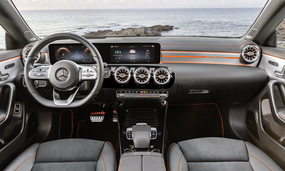 Cabin shares much with that of the A-Class.