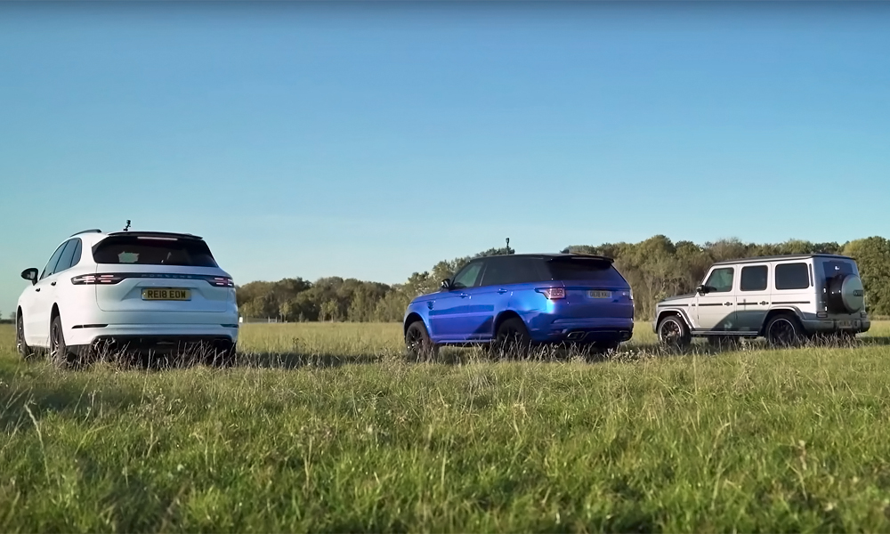 drag race with Cayenne Turbo