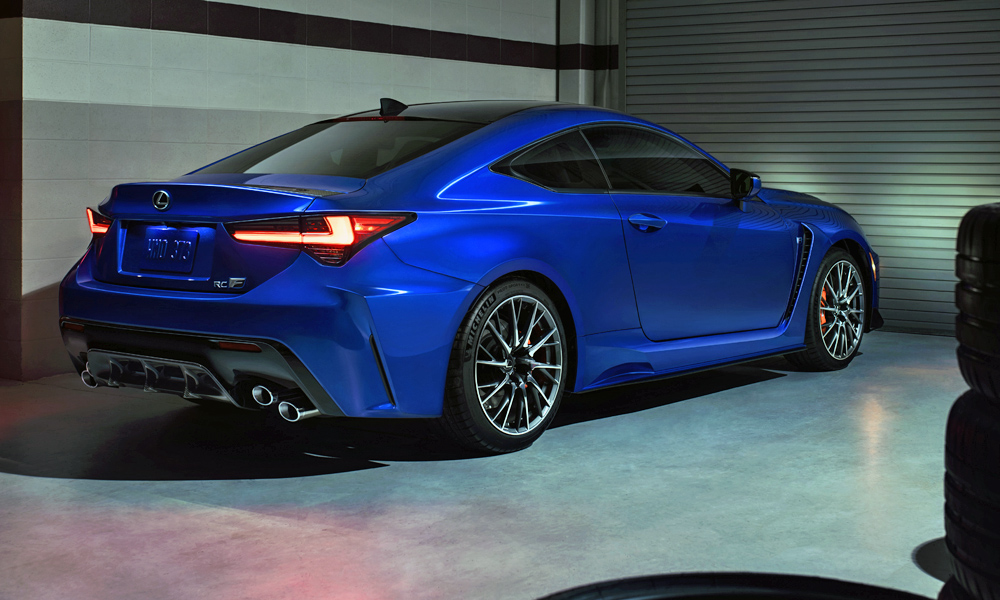 The standard RC F has also been suitably upgraded.