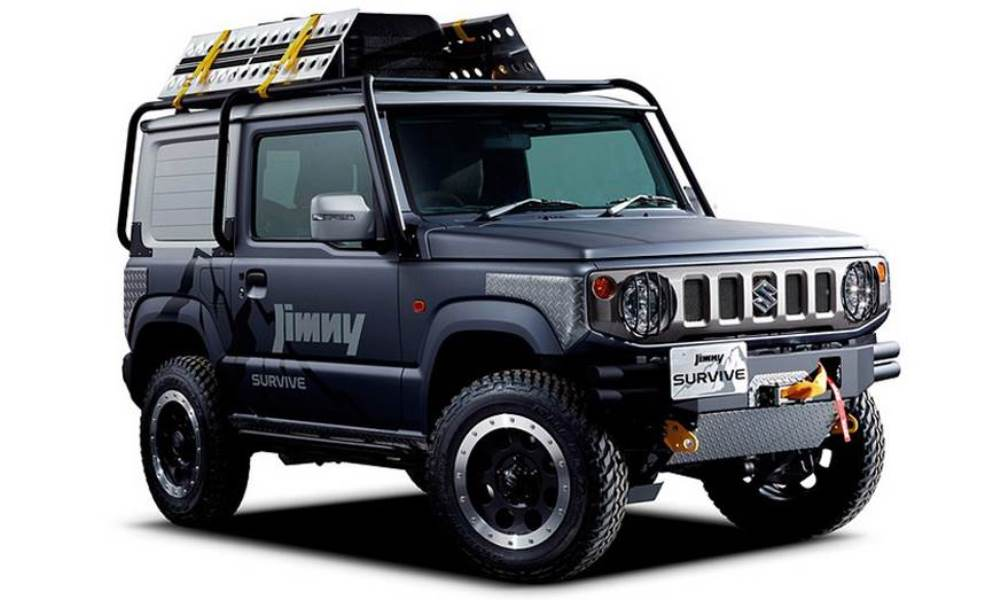 The capabilities of the Jimny are taken to the next level with the Survive concept.