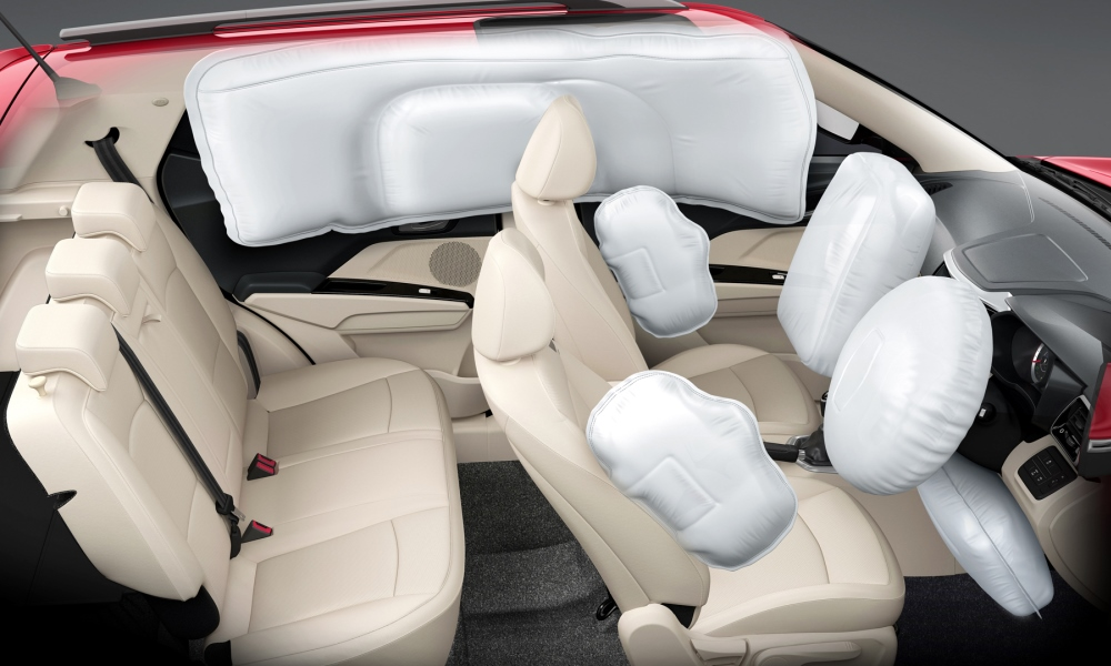 Seven airbags as standard on the W8 trim level.