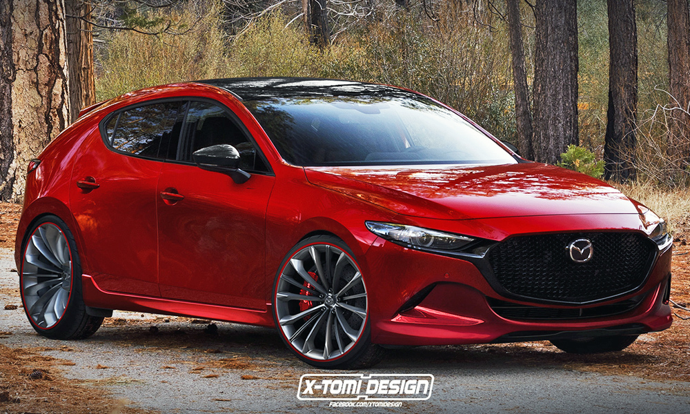 new mazda3 mps hot hatch rendered but it won 39 t happen. Black Bedroom Furniture Sets. Home Design Ideas