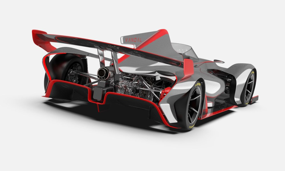 It weighs just 555 kg and can deliver up to 800 kg of downforce.