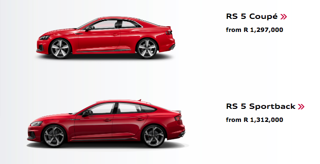 Audi RS5 Sportback in SA: check out local pricing here…
