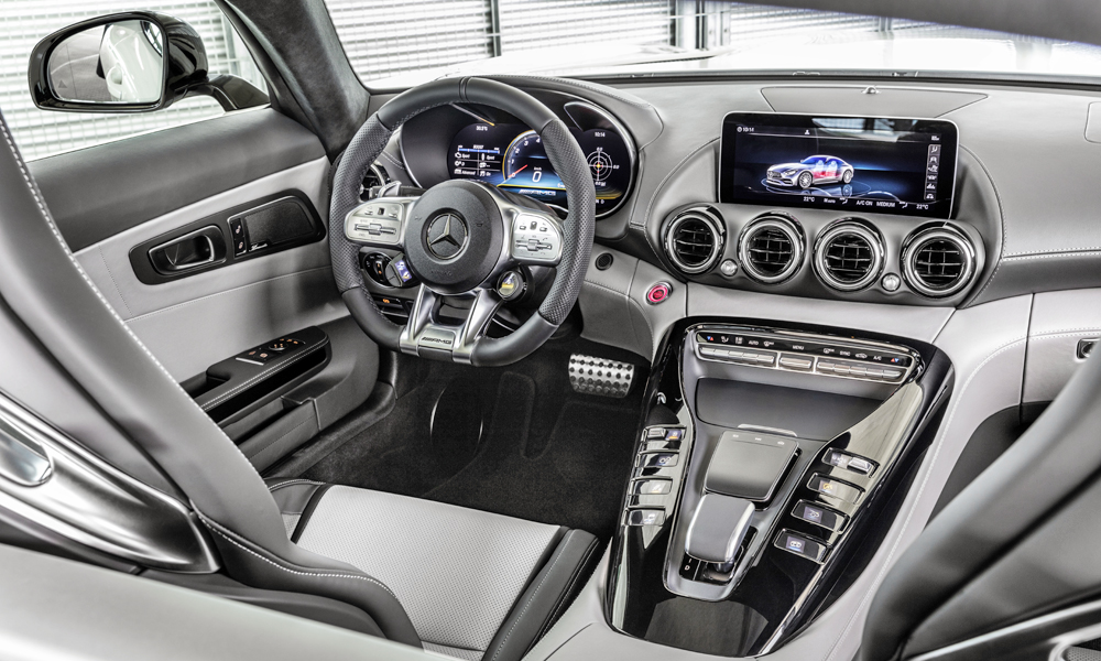 The GT gains the centre console that debuted in the GT 4-Door Coupé.
