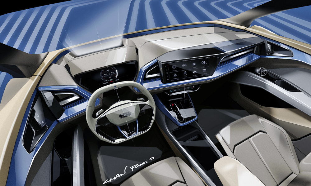 The cabin appears to build on elements from that of the new Q3.