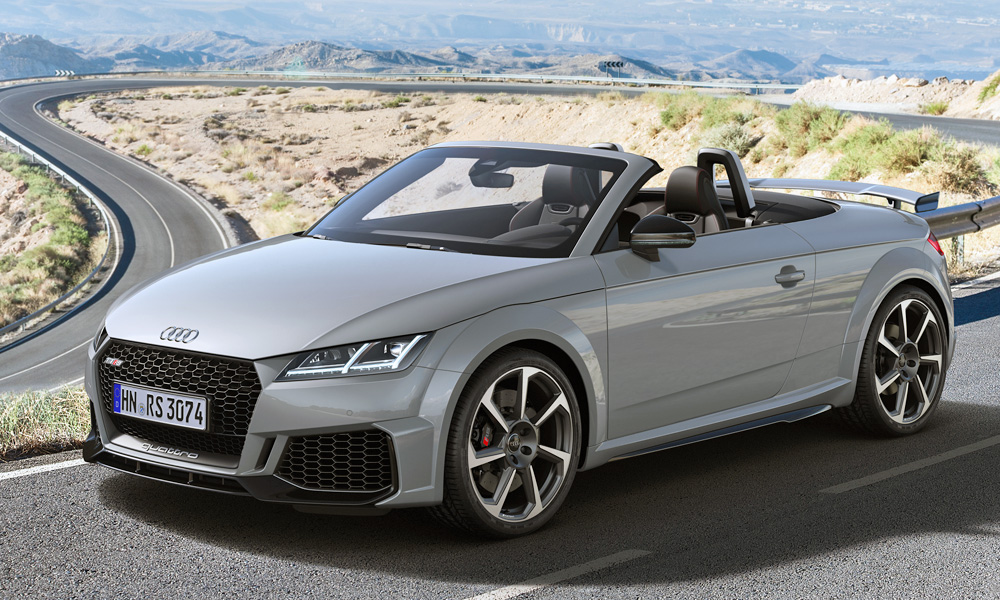 The TT RS Roadster also benefits from the updates.