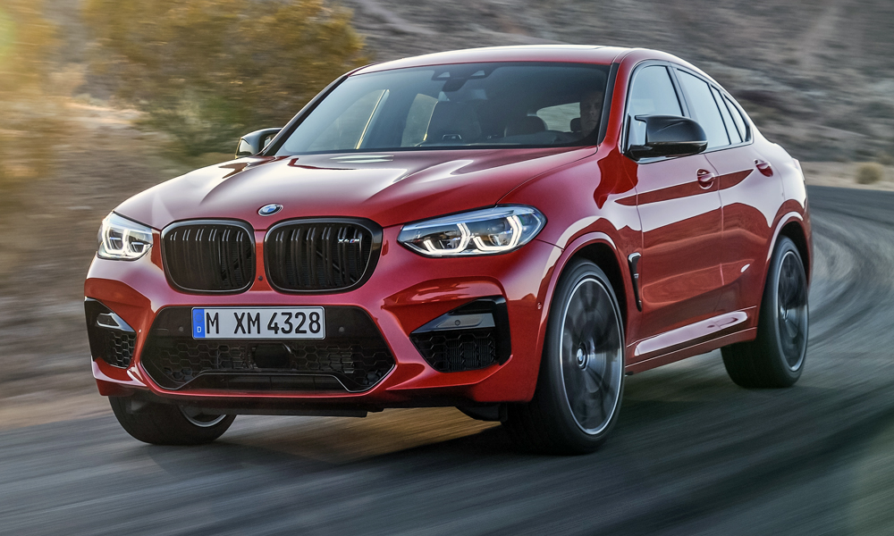 The Toronto Red hue on this X4 M Competition is one of two exclusive new colours.