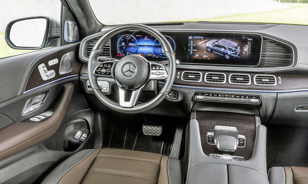 The new GLE features Benz's latest MBUX infotainment system.