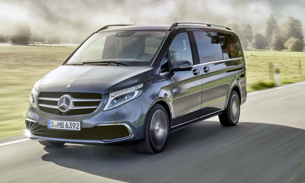 The updated V-Class in the Exclusive trim level.