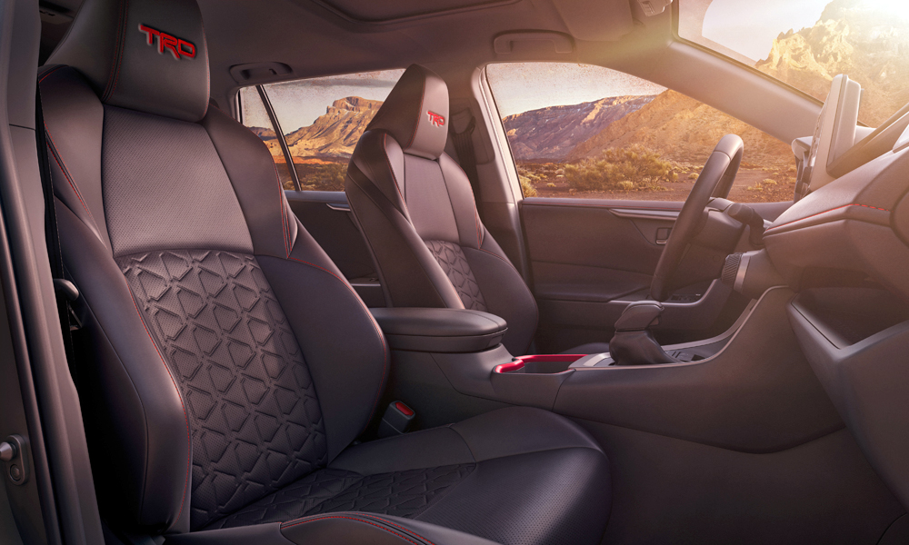 Note the TRD logos on the headrests.