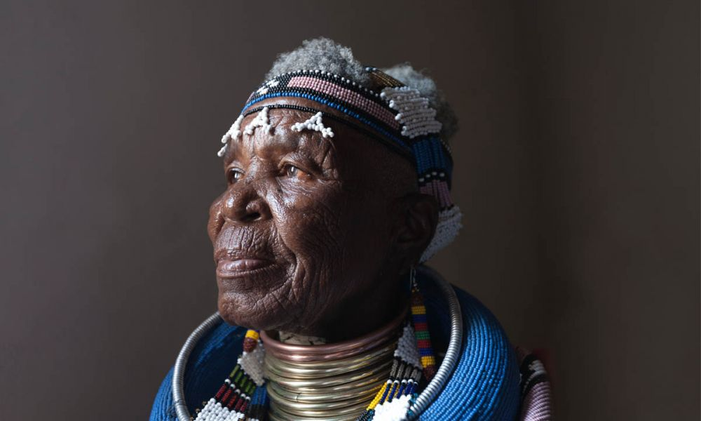 Dr Mahlangu is credited for reimagining traditional Ndebele design on contemporary mediums.
