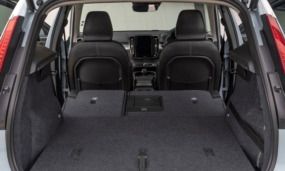 ... which becomes decidedly capacious with the rear bench folded down.