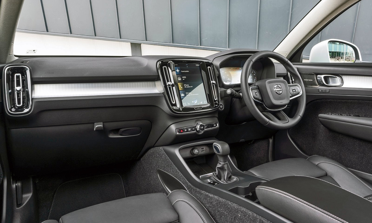 Interior is typical Volvo. Classy and stylish. Carpeted door trim won't be to everyone's taste, however.