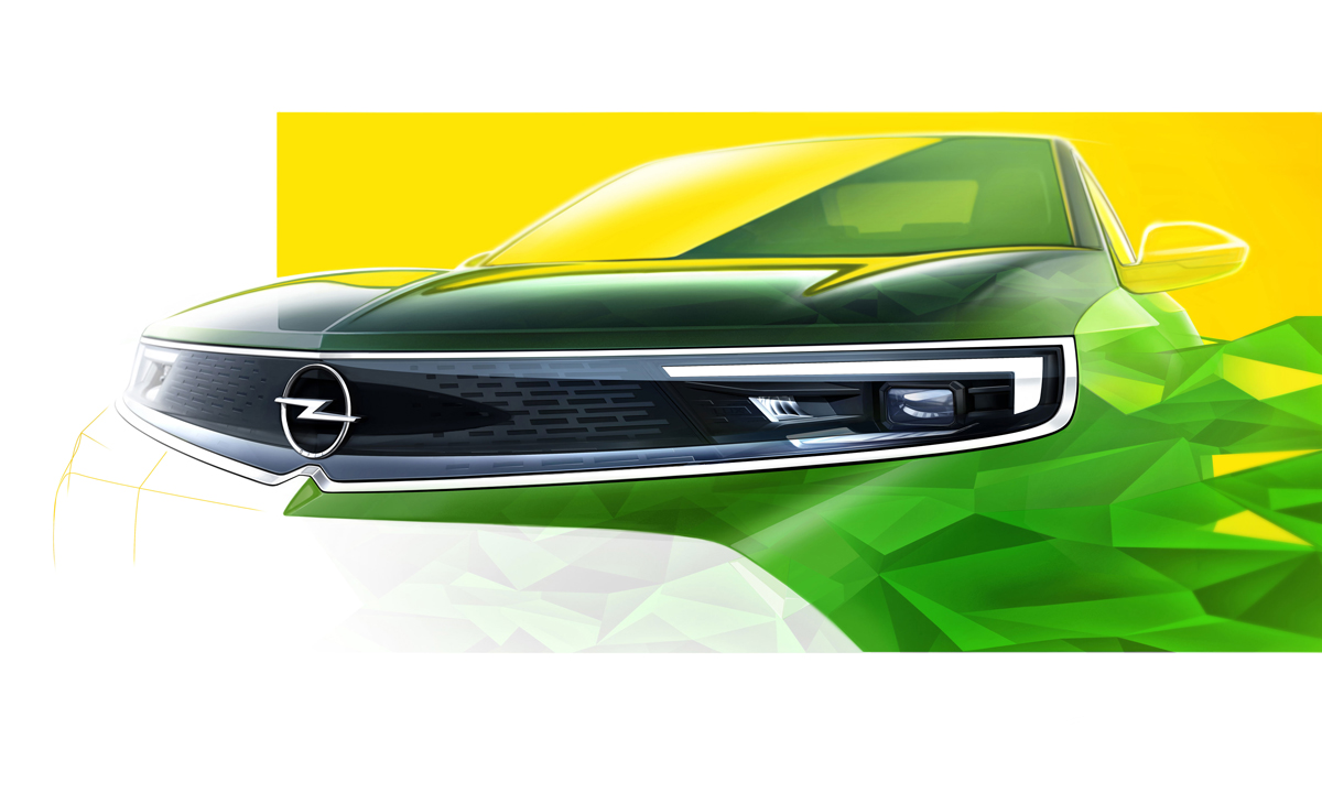 Earlier in June, Opel revealed this sketch previewing the new Mokka's front-end design.