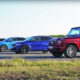 drag race with BMW M340i Touring