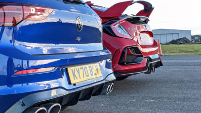 Volkswagen Golf R vs. Honda Civic Type R