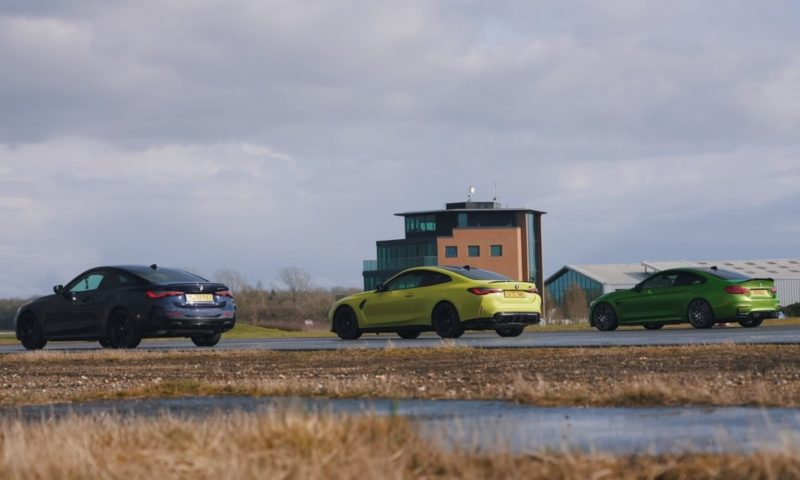 BMW M4 drag race