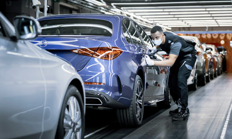 Semiconductor Mercedes-Benz C-Class production line