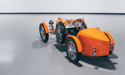 Bugatti Baby II Jetex Orange rear three quarter