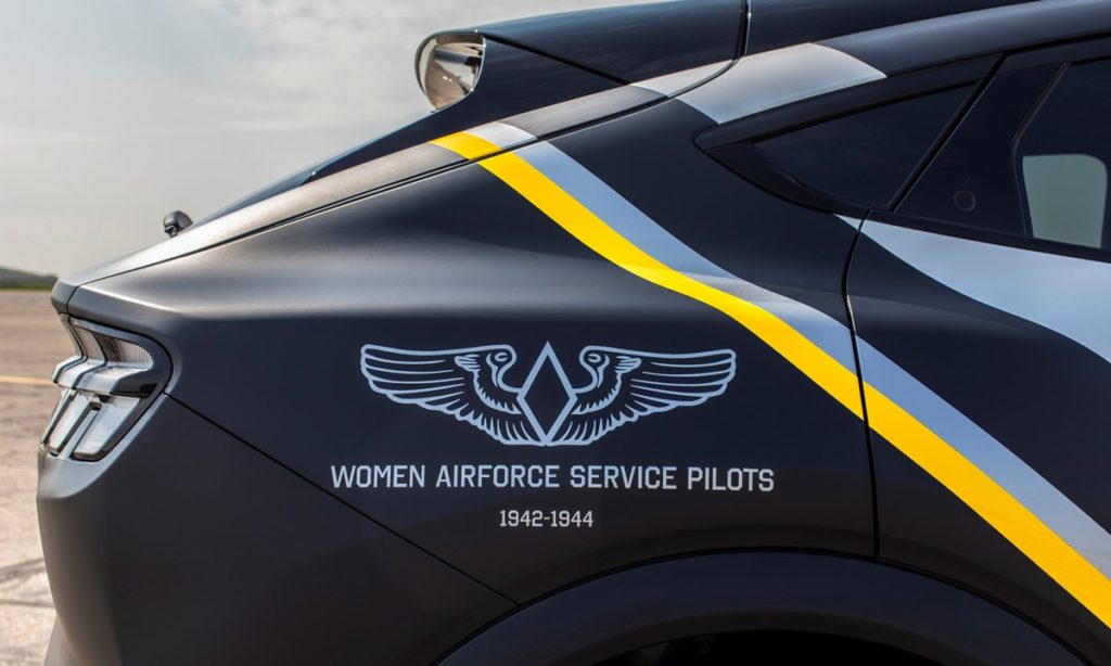 Ford Mustang Mach-E women Airforce decal