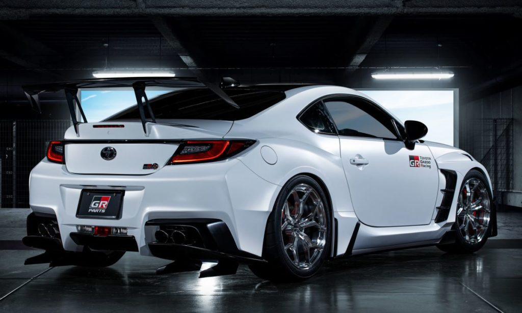 Toyota GR 86 with Gazoo Racing parts rear quarter