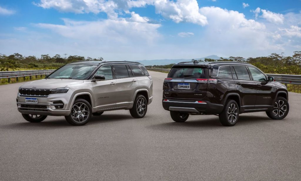 Jeep Commander front and rear