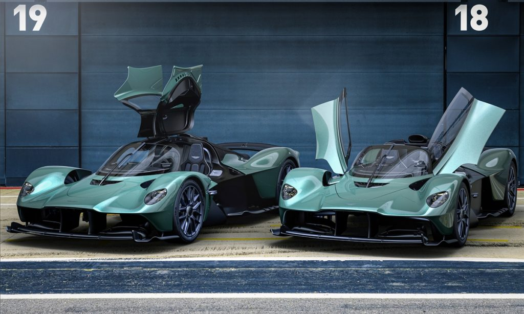 Aston Martin Valkyrie Spider and coupe