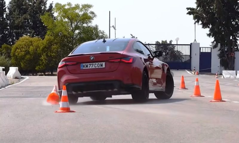BMW M4 Competition Coupe botches moose test due to tail-happy rear