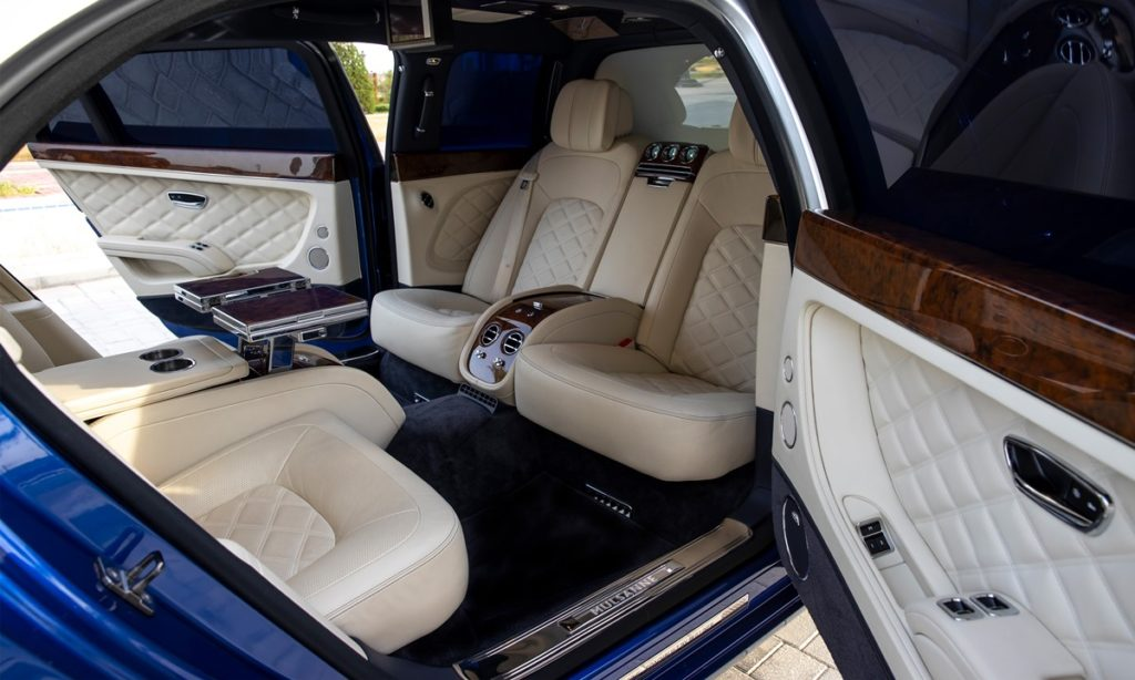 Bentley Mulsanne Grand Limousine by Mulliner rear compartment