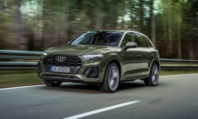 Facelifted Audi Q5 front quarter driving