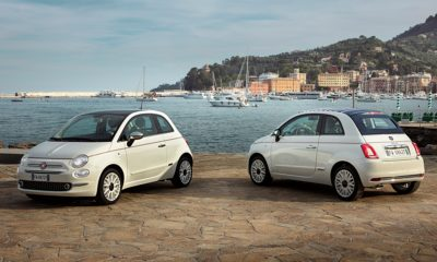 Fiat 500 front and rear