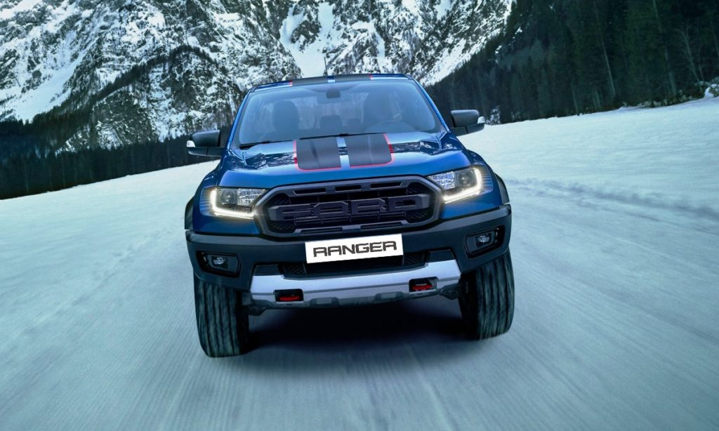 Ford Ranger Raptor Special Edition front driving