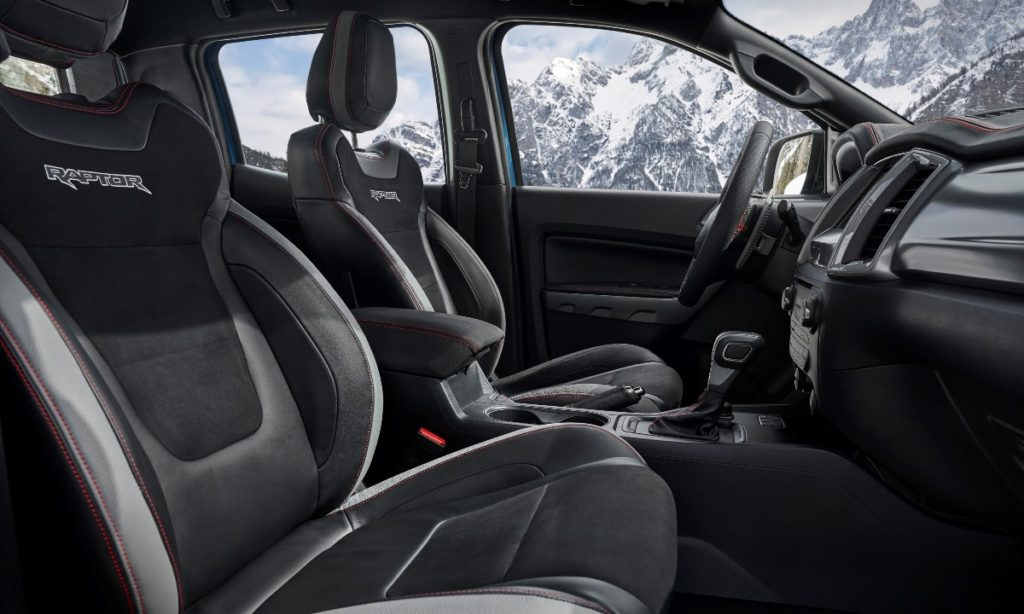 Ford Ranger Raptor Special Edition seats