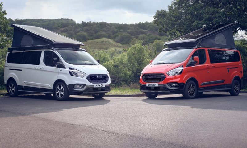 Ford Transit Custom Nugget trail and active