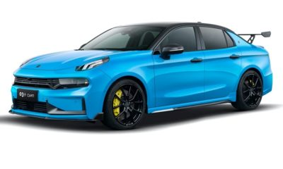 Lynk & Co 03+ Cyan Edition front quarter