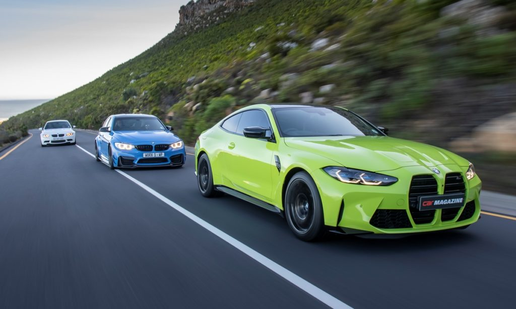 BMW M4 Competition Coupe and family