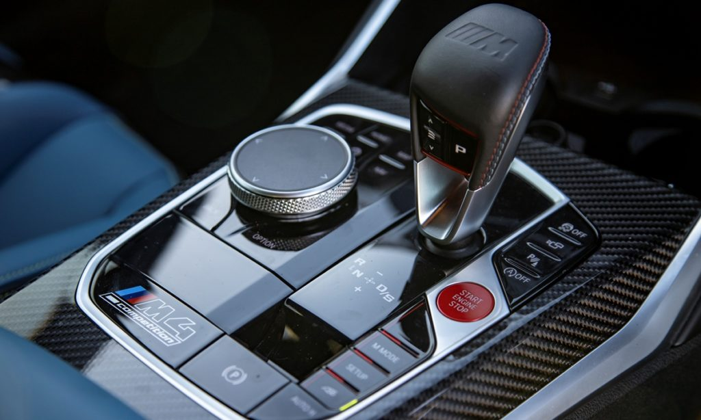 BMW M4 Competition Coupe gear selector