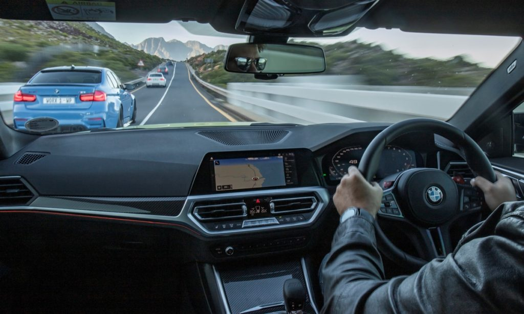 BMW M4 Competition Coupe interior driving