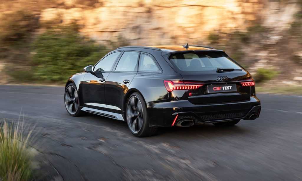 September 2021 issue of CAR magazine rs6 rear