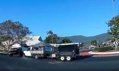 Toyota Hilux-on-Hilux violence takes place at dual-lane traffic circle