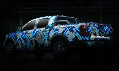 Next-gen Ford Ranger officially teased with optical illusion camouflage