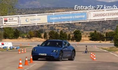 Porsche Taycan Cross Turismo struggles to clear moose test
