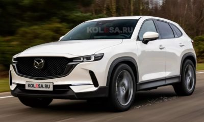 Upcoming Mazda CX-50 rendered with dynamic lines and bold features